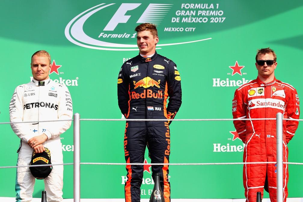 1º Max Verstappen, 2º Valtteri Bottas, 3º Kimi Raikkonen (Foto: Getty Images)