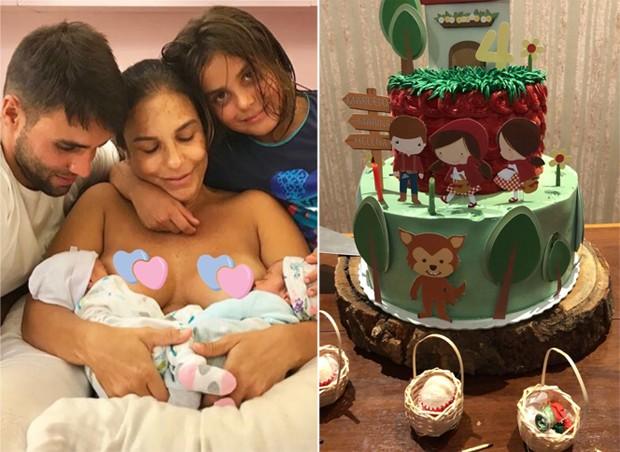 Daniel Cady e Ivete Sangalo com os filhos Marcelinho, Helena e Marina (Foto: Reprodução/Instagram)