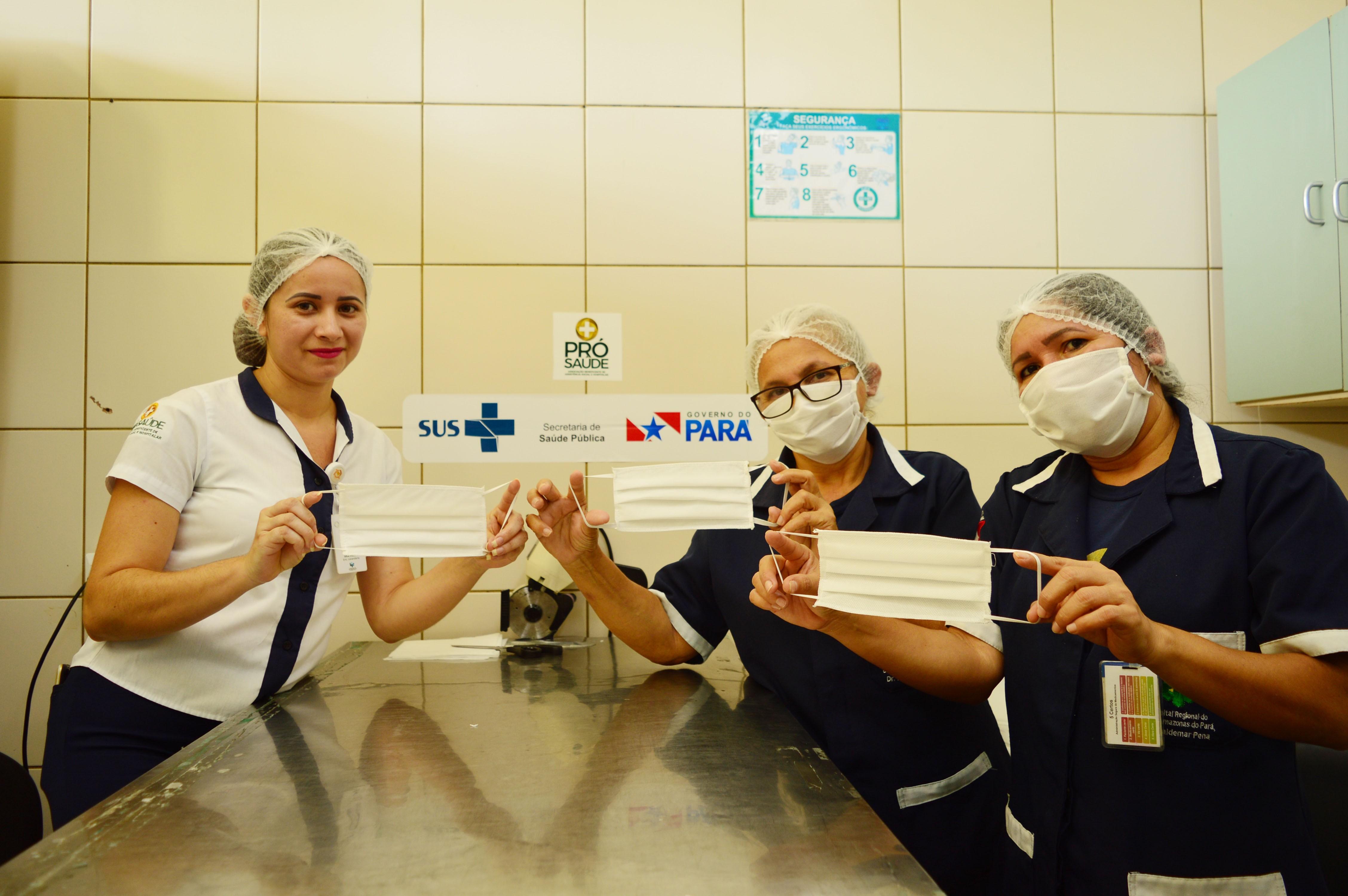 Mais de 1.500 máscaras de proteção são confeccionadas no HRBA, em Santarém