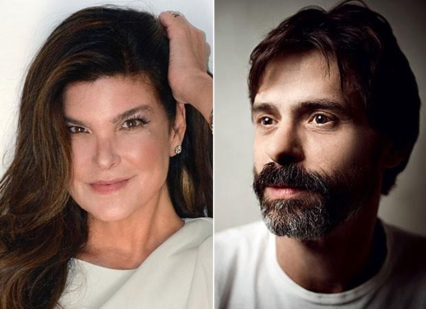 Cristiana Oliveira contou que não se dava bem com Marcos Winter (Foto: Jonathan Giuliani/ Divulgação e Marcelo Corrêa/Ed Globo)