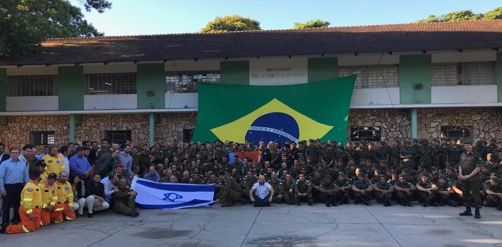 Israelenses foram homenageados na manhã desta quinta-feira (31) em Brumadinho — Foto: David Atar, embaixada de Israel
