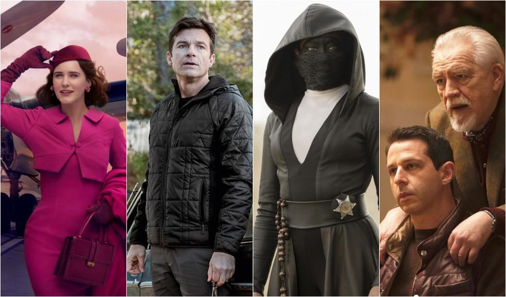 Séries indicadas ao Emmy 2020: 'Maravilhosa Sra. Maisel', 'Ozark', 'Watchmen' e 'Succession' — Foto: Divulgação