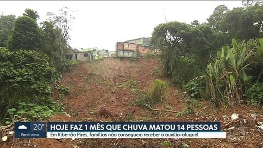 Chuva que deixou 14 mortos completa 1 mês