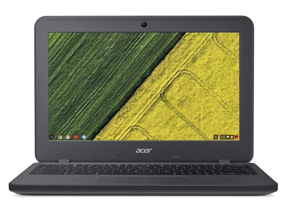 O Chromebook da Acer tem tela de 11,6 polegadas e hardware simples — Foto: Divulgação/Amazon