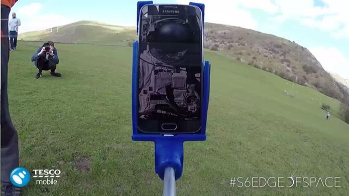 Galaxy S6 Edge é lançado ao espaço pela Tesco Mobile (Foto: Divulgação/Tesco)