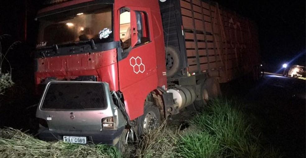 Menino de 14 anos pegou carro escondido dos pais e morreu ao bater de frente com caminhão na BR-174 — Foto: Divulgação