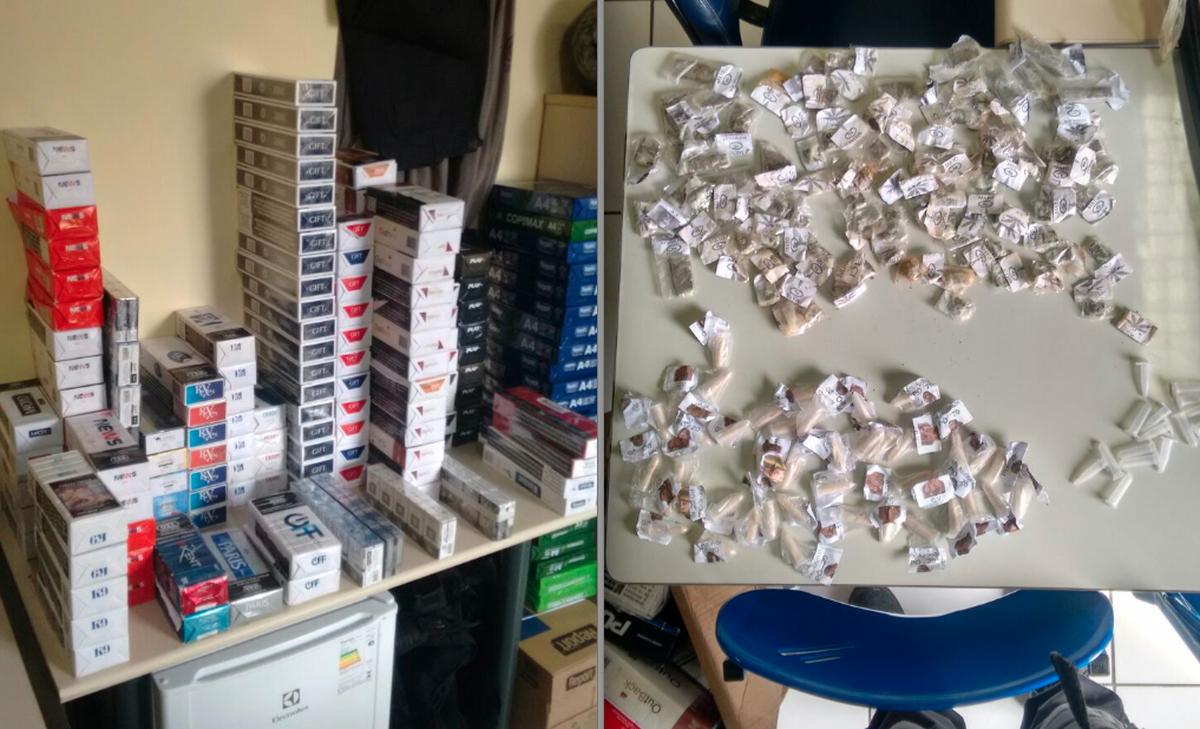 Polícia recupera caixas de cigarros roubadas e apreende drogas em Saquarema, no RJ