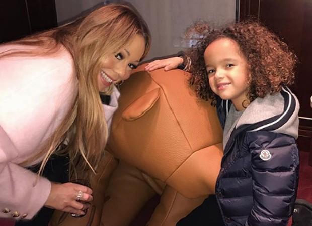 Mariah Carey e o filho, Moroccan (Foto: Reprodução/Instagram)