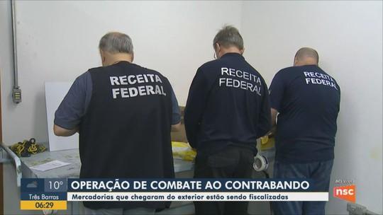 Receita Federal faz operação de combate ao contrabando na Grande Florianópolis