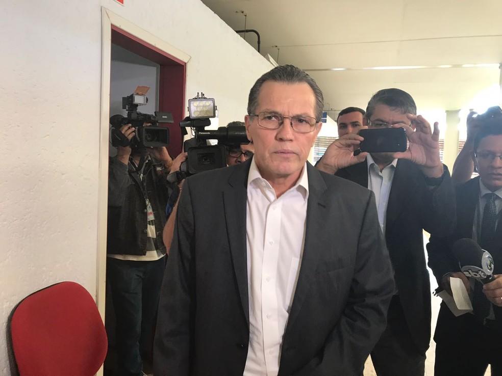 Imagem mostra o ex-governador de Mato Grosso Silval Barbosa (PMDB) (Foto: Lislaine dos Anjos/G1)