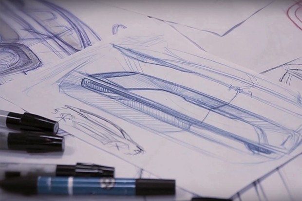 Apenas o perfil do carro pode ser visto de vislumbre no vídeo (Foto: Divulgação)