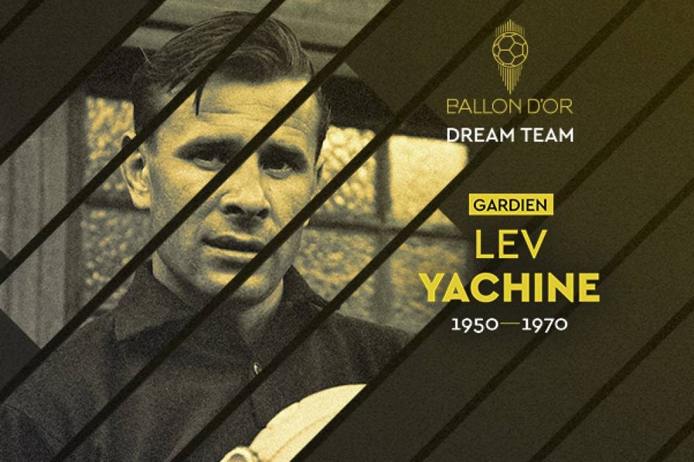 Lev Yashin foi eleito para o Dream Team da Bola de Ouro — Foto: France Football