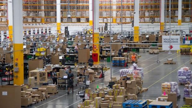 Centro de distribuição próprio da Amazon em Cajamar, na Grande São Paulo (Foto: Divulgação/Julio Vilela)