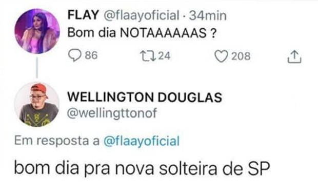Flay e Fernando Pessiqueli não estão mais juntos (Foto: Reprodução / Instagram)