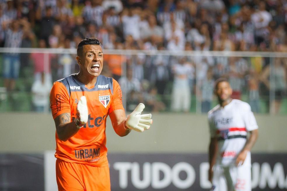 Sidão teve boa atuação na partida contra o Atlético-MG (Foto: Agência Estado)