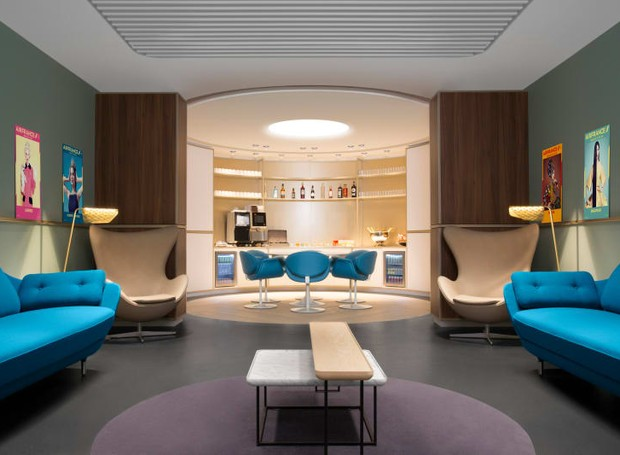 Lounge retrô (Foto: Air France/ Reprodução)