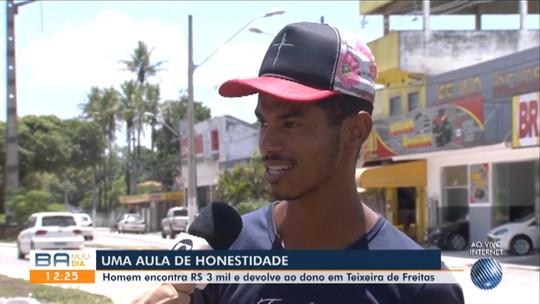 Homem acha envelope com R$ 3 mil na Bahia, devolve a dono e recusa recompensa: 'Obrigação'