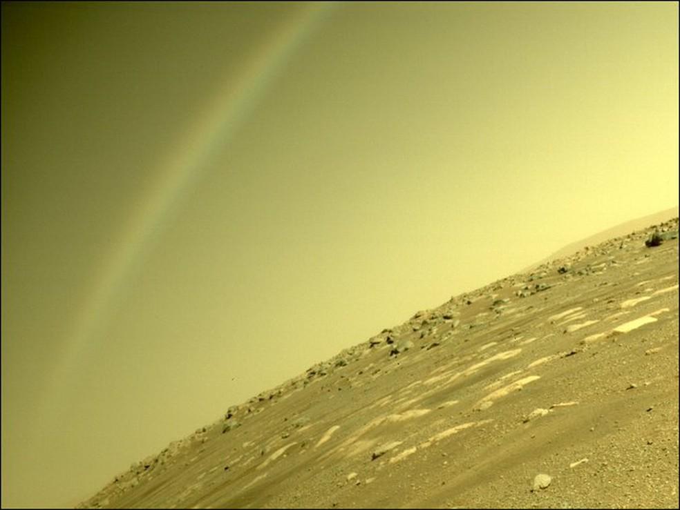 Nasa explica fenômeno óptico visto em Marte — Foto: Nasa