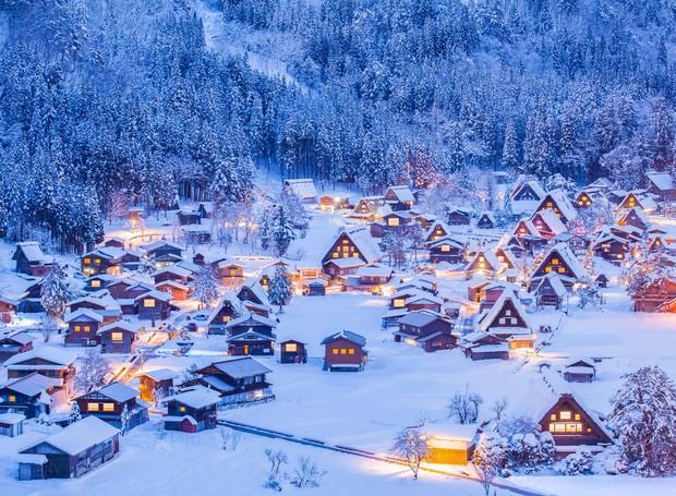 Shirakawago, no Japão (Foto: Shutterstock/ Reprodução)