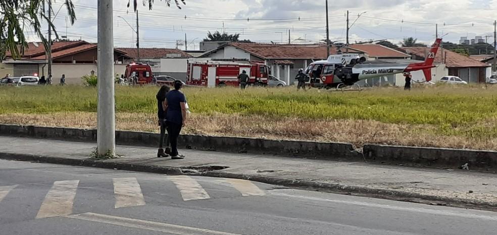 Mãe e filho ficam feridos em atropelamento em Taubaté — Foto: Rafael Cozer