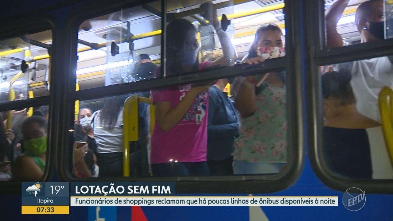 Funcionários de shoppings sofrem com a falta de linhas de ônibus à noite em Campinas