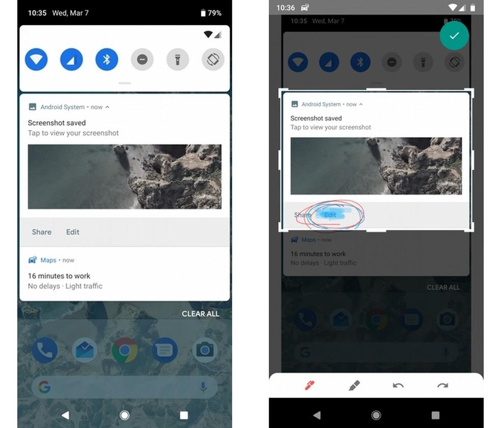 Android P terá editor de screenshots nativo  (Foto: Reprodução/XDA Developers)