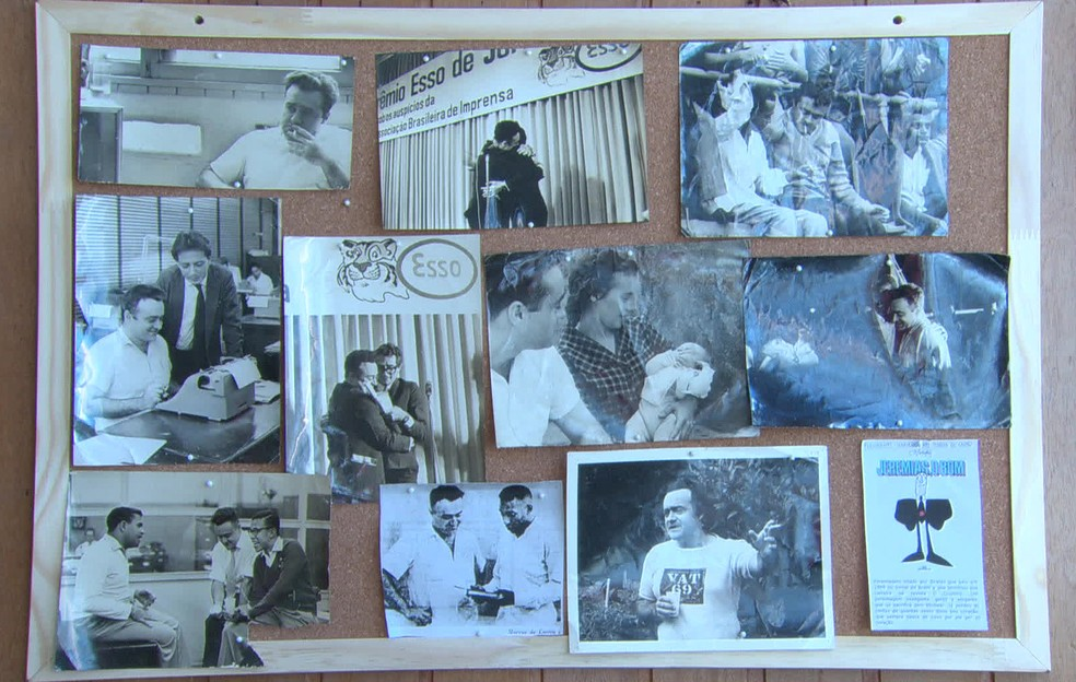 Fotos da carreira de Marcos de Castro — Foto: Reprodução/TV Globo