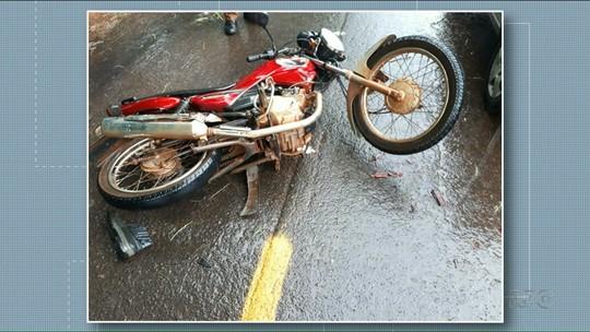 Motociclista morre em acidente próximo a São Tomé