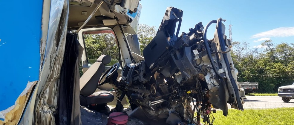 Acidente ocorreu na manhã de segunda-feira (4), por volta das 7h25, em Itu — Foto: Witter Veloso/ TV TEM
