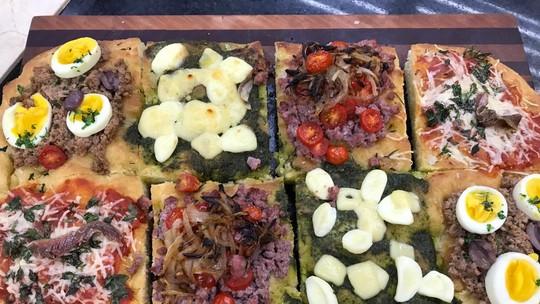 Mosaico de Focaccia do Chef Ravioli