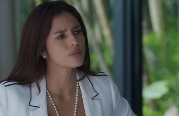 Na sexta (3), Laura (Yanna Lavigne) sugerirá que Olavo indique Sampaio (Marcello Novaes) para ser o novo prefeito da cidade (Foto: TV Globo)