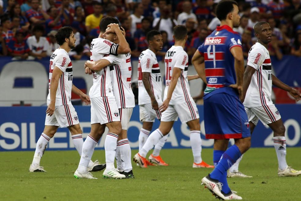 São Paulo venceu Fortaleza por 1 a 0 no primeiro turno, no Castelão — Foto:  LC MOREIRA/ESTADÃO CONTEÚDO