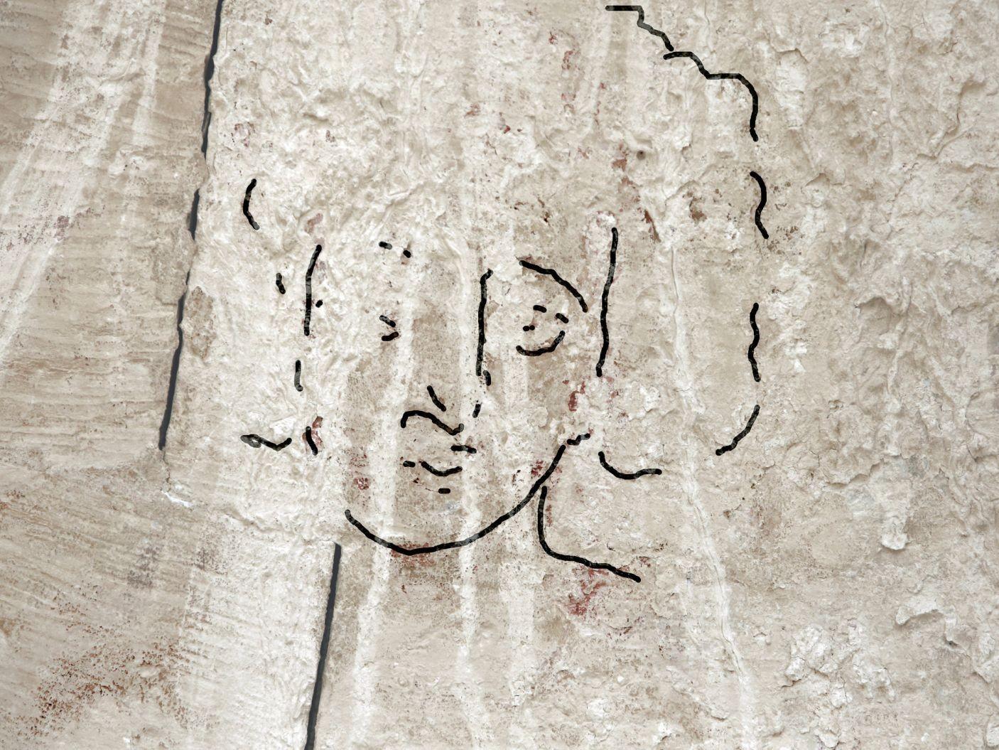 Desenho que retrataria o rosto de Jesus (Foto: Divulgação/Dror Maayan)