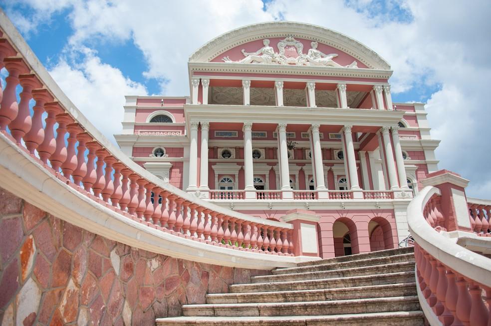 Teatro Amazonas, localizado no Centro de Manaus. — Foto: Divulgação/SEC
