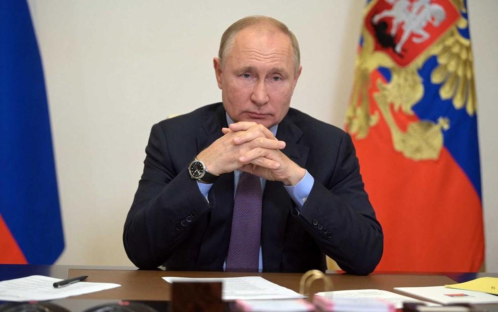 O presidente russo, Vladimir Putin — Foto: Alexei Druzhinin / SPUTNIK / via AFP Photo