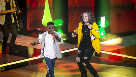 Internautas exaltam participação de IZA, Vitor Kley e Melim na final do 'The Voice Kids'