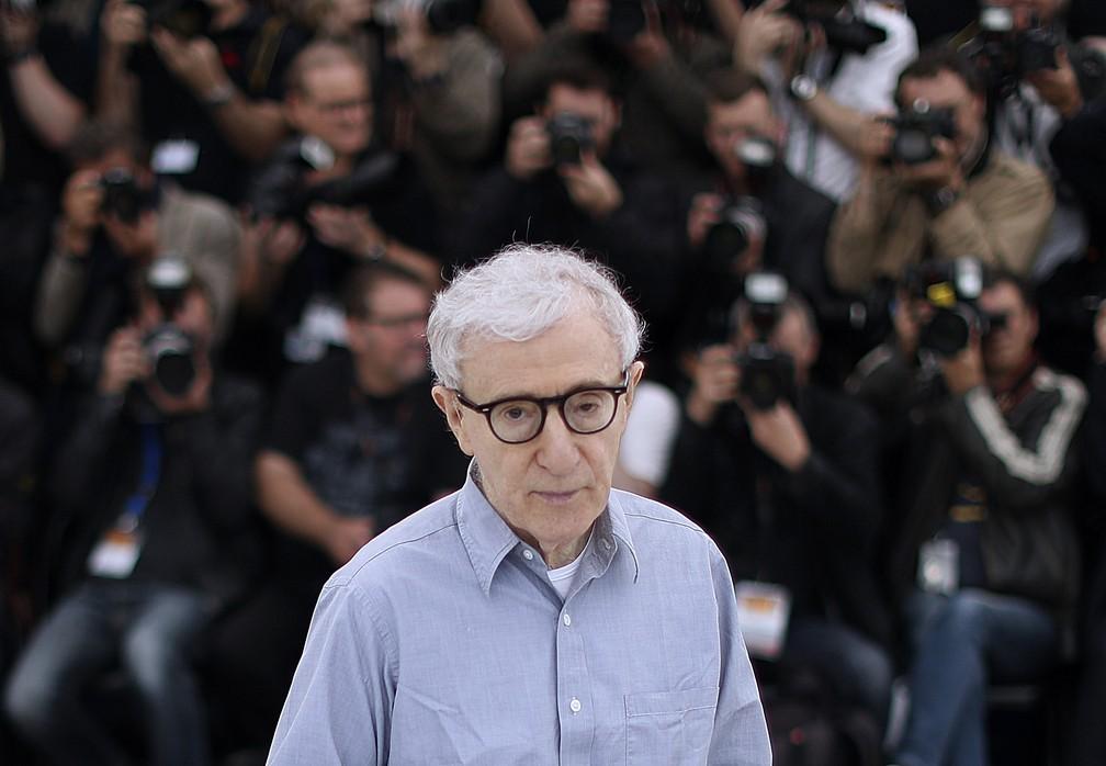 Woody Allen em foto no Festival de Cannes de 2016 — Foto: Valery Hache/AFP