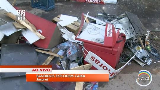 Criminosos explodem caixa eletrônico no distrito de São Silvestre em Jacareí