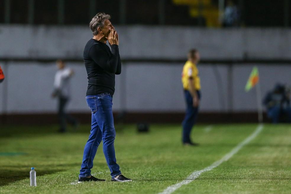 Renato Gaúcho aprovou resultado e atuação do Grêmio — Foto: Lucas Uebel/Grêmio/Divulgação