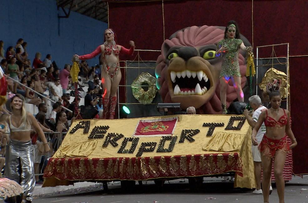 Unidos do Parque Aeroporto é campeã do carnaval em Taubaté (Foto: TV Vanguarda/ Reprodução)