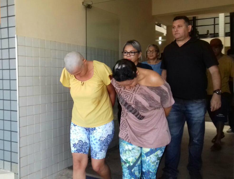 Odeth e Darliane foram condenadas a 14 anos de prisão (Foto: Geovane Brito/G1)
