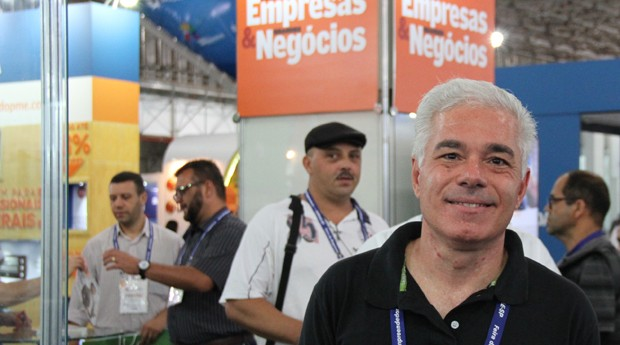 """André Melo: """"A feira me atiça a ter um novo negócio"""" (Foto: Fabiano Candido)"""