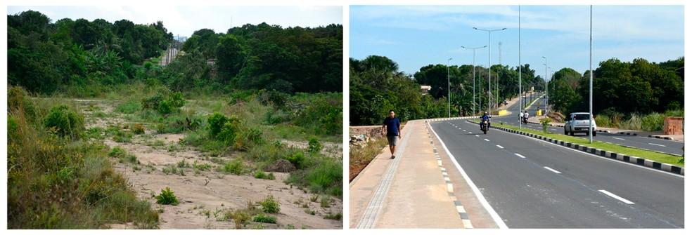 As pontes garantem novos acessos de saída e entrada a bairros populosos, desafogando o trânsito em grandes avenidas.  — Foto: PMBV.
