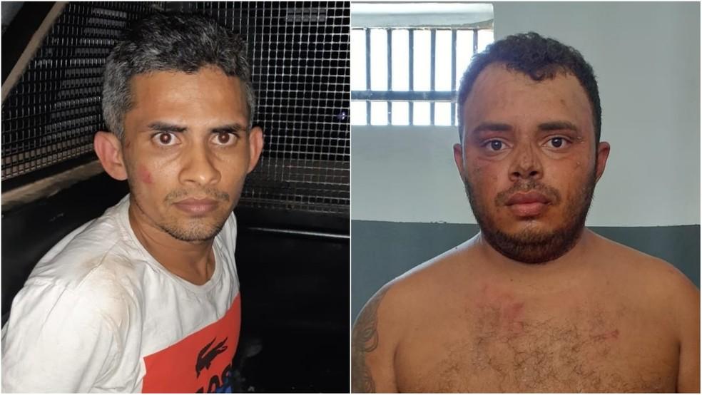 Suspeitos presos pelos roubo a Lojas Americanas em Bacabal — Foto: Divulgação/Polícia Militar