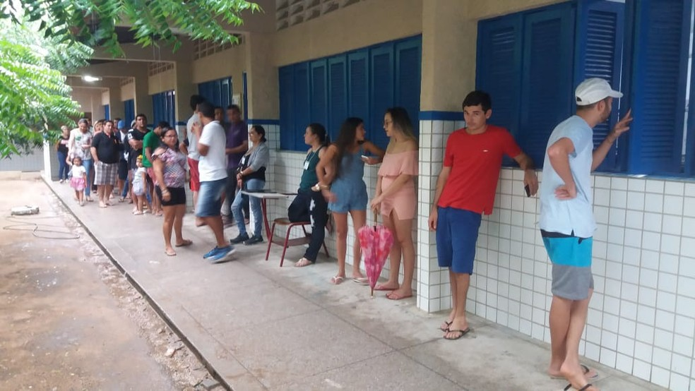 Sessões ficaram cheias na comunidade indígena Mendonça do Amarelão, em João Câmara (Foto: Ailton Dias)