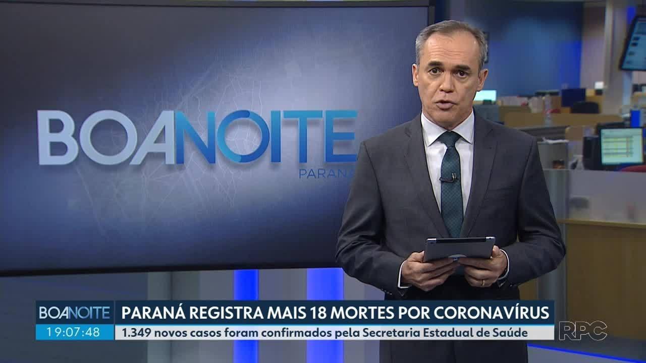Paraná registra mais 18 mortes por coronavírus