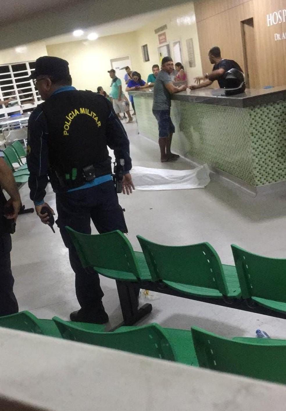 Homem é assassinado enquanto era atendido em hospital em Caucaia, no Ceará — Foto: Arquivo pessoal