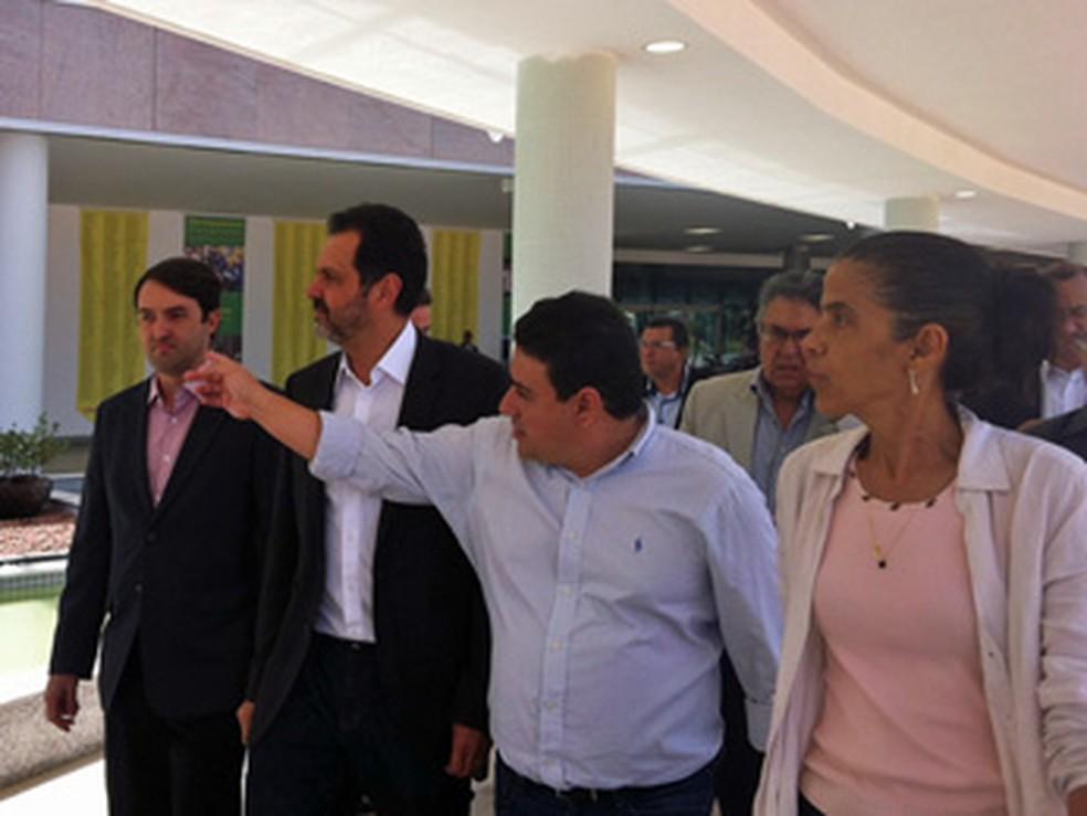 Governador Agnelo Queiroz durante inauguração do novo Centro Administrativo do DF — Foto: Isabella Formiga/G1
