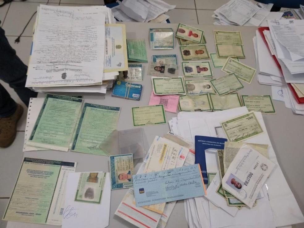 Diversos documentos falsificados foram apreendidos durante a operação em São Luís — Foto: Divulgação/Polícia Civil