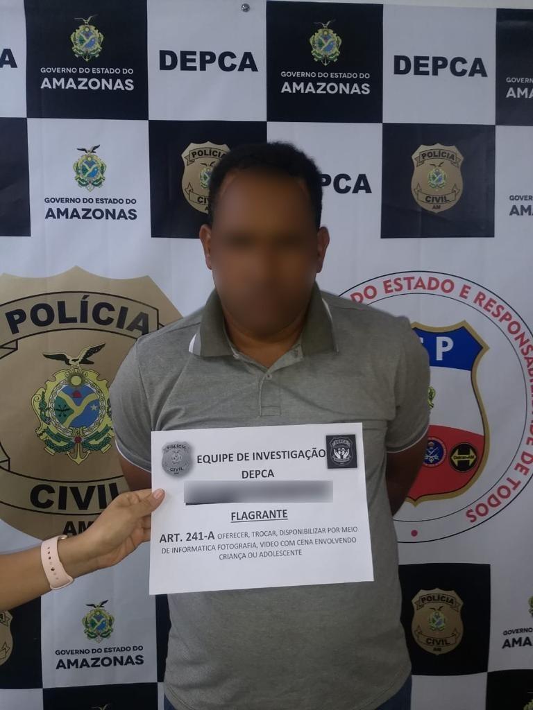 Aposentado é preso suspeito de compartilhar imagens pornográficas de crianças na internet, em Manaus - Noticias